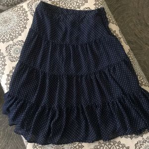 George Skirts - Women's Navy and White Polka Dots Skirt